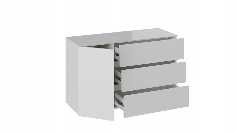 Комод «Glance» тип 2 (Белый/Стекло белый глянец)
