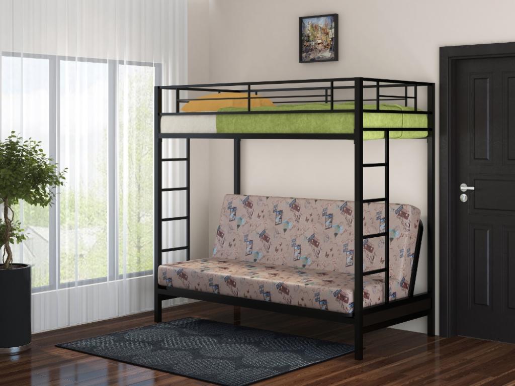 """Двухъярусная кровать с диваном """"Мадлен"""""""