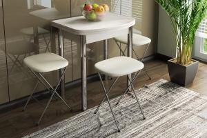 Стол обеденный с хромированными ножками «Лион (мини)» СМ-204.01.2