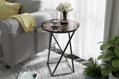 Стол со стеклянной поверхностью (журнальный) (Черный/Стекло с рисунком Coffe)