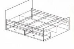 """Кровать на 1,6 """"Сакура"""""""